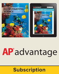 Cunningham, Environmental Science © 2018, 14e (AP Edition) Student AP advantage Bundle (Student Edition with ONboard™(v2), Connect®, SCOREboard™(v2)), 1-year subscription