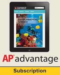 Cunningham, Environmental Science © 2018, 14e (AP Edition) AP advantage Digital Bundle (ONboard™(v2), Connect®, SCOREboard™(v2)) , 1-year subscription