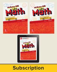 McGraw-Hill My Math 2018 1-year Student Bundle, Grade 1