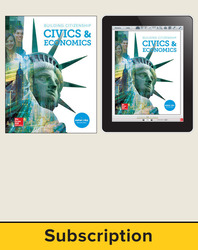 Building Citizenship: Civics & Economics, Student Suite with LearnSmart, 7-year subscription