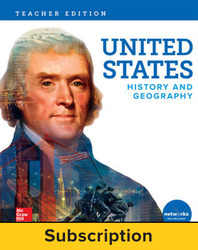 United States History and Geography, Teacher Suite with LearnSmart, 7-year subscription