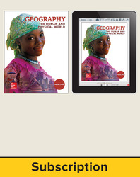 Geography: The Human and Physical World, Student Suite with LearnSmart, 7-year subscription