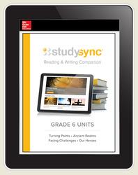 StudySync ELA Grade 6, Student/R&W Units and 2 Novels Bundle, 6 year