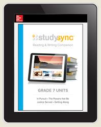 StudySync ELA Grade 7, Student/R&W Units and 2 Novels Bundle, 6 year