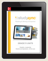 StudySync ELA Grade 9, Student/R&W Units and 2 Novels Bundle, 6 year
