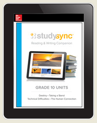 StudySync ELA Grade 10, Student/R&W Units and 2 Novels Bundle, 6 year
