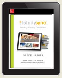 StudySync ELA Grade 11, Student/R&W Units and 2 Novels Bundle, 6 year