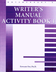 Student Activity Books: Writer's Manual Activity Book 1 (10 pack)