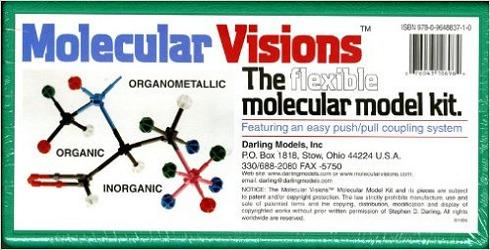 Molecular Visions (Organic, Inorganic, Organometallic) Molecular Model Kit #1 by Darling Models to accompany Organic Chemistry