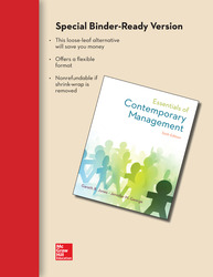 Loose Leaf Essentials of Contemporary Management with Connect Access Card