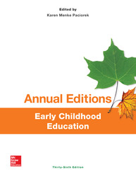 Annual Editions: Early Childhood Education, 36/e