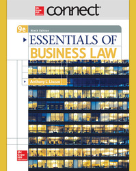 Connect Online Access for Essentials of Business Law