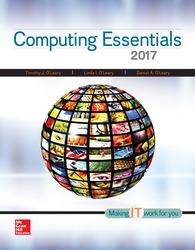 Computing Essentials 2017 26th Edition