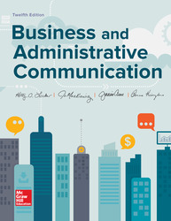 Business and Administrative Communication 12th Edition