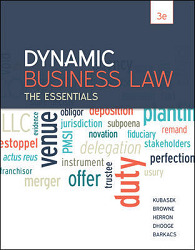 Loose-Leaf for Dynamic Business Law: The Essentials with Connect