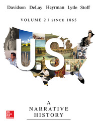 US: A Narrative History Volume 2 with Connect 1-Term Access Card