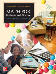 MATH FOR BUSINESS AND FINANCE: AN ALGEBRAIC APPROACH
