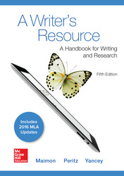 A Writer's Resource 5e MLA 2016 UPDATE 5th Edition