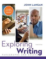 Exploring Writing: Paragraphs and Essays MLA 2016 Update 3rd Edition
