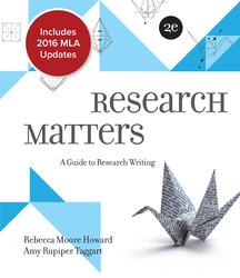 Research Matters MLA 2016 Update