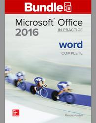 GEN COMBO LL MICROSOFT OFFICE WORD 2016 CMPLT; SIMNET OFFICE 2016 SMBK WORD AC