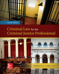 Loose Leaf Criminal Law for The Criminal Justice Professional with Connect AC