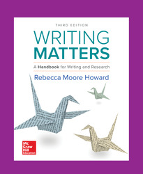Writing Matters: A Handbook for Writing and Research 3e TABBED
