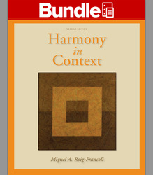 GEN COMBO WORKBOOK/ANTHOLOGY HARMONY IN CONTEXT; CONNECT ACCESS CARD