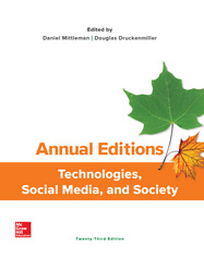 Annual Editions: Technologies, Social Media, and Society
