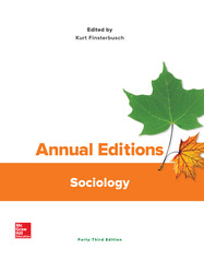 Annual Editions: Sociology, 43/e