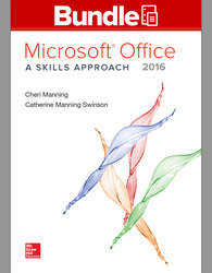 GEN COMBO LL MS OFFICE 2016:SKILLS APPROACH; SIMNET OFFICE 2016 MANNING SMBK AC
