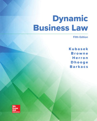 Dynamic Business Law 5th Edition