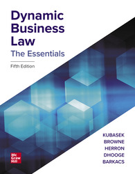 Dynamic Business Law: The Essentials 5th Edition