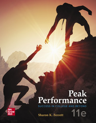 Peak Performance: Success in College and Beyond 11th Edition