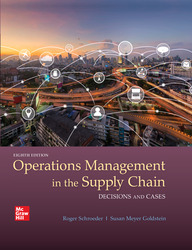 Operations Management In The Supply Chain: Decisions & Cases 8th Edition