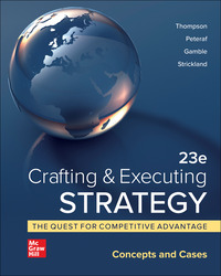 Crafting & Executing Strategy: Concepts and Cases 23rd Edition