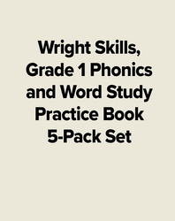 Wright Skills, Grade 1 Phonics and Word Study Practice Book 5-Pack Set