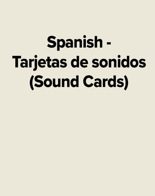 Spanish - Tarjetas de sonidos (Sound Cards)