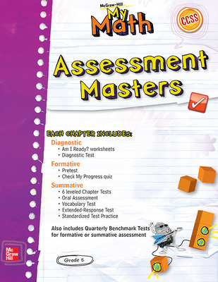 McGraw-Hill My Math, Grade 5, Assessment Masters