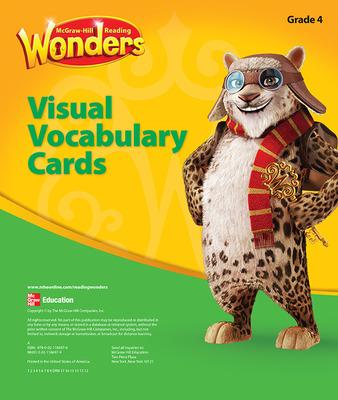 Reading Wonders, Grade 4, Visual Vocabulary Cards