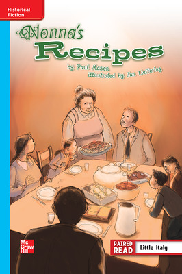 Reading Wonders Leveled Reader Nonna's Recipe: On-Level Unit 6 Week 2 Grade 4