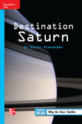 Reading Wonders Leveled Reader Destination Saturn: On-Level Unit 3 Week 3 Grade 3