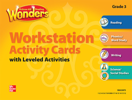 Reading Wonders, Grade 3, Workstation Activity Cards Package