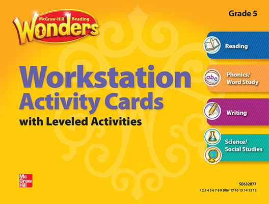 Reading Wonders, Grade 5, Workstation Activity Cards Package
