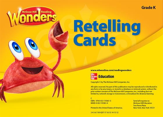 Reading Wonders Retelling Cards Grade K