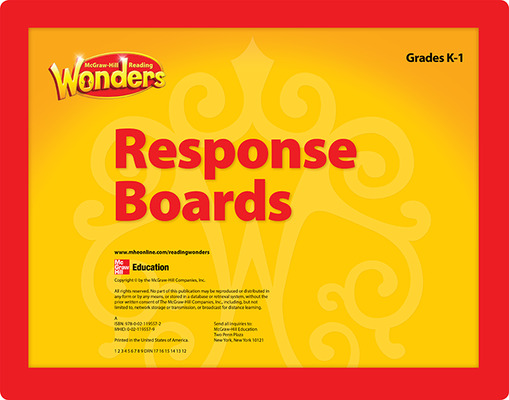 Reading Wonders Reading Response Boards Grade K/1