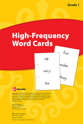 Reading Wonders, Grade 1, High Frequency Word Cards