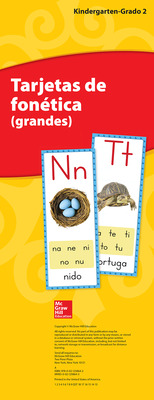 Lectura Maravillas, Grades K-2, Sound Spelling Cards (Large)