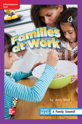 Reading Wonders, Grade 2, Leveled Reader Families at Work, Approach Unit 1 6-Pack