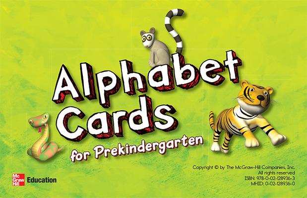 McGraw-Hill My Math, Grade PK, Alphabet Cards